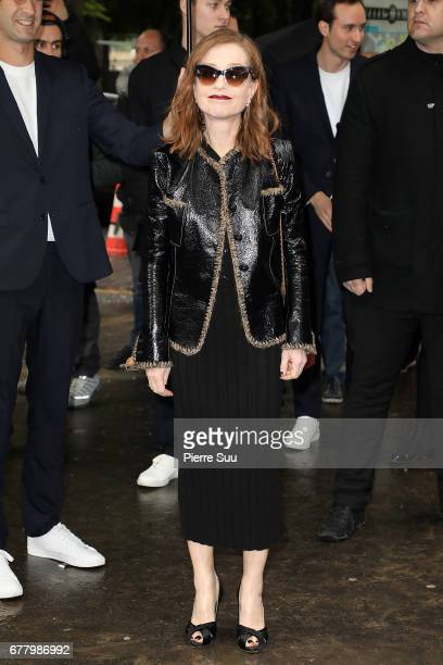 Actress Isabelle Huppert arrives at the Chanel Cruise 2017/2018 Collection at Grand Palais on May 3 2017 in Paris France