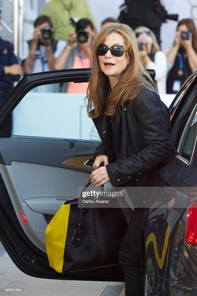 Actress Isabelle Huppert arrives at the Maria Cristina Hotel during 60th San Sebastian International Film Festival on September 22, 2012 in San Sebastian, Spain.