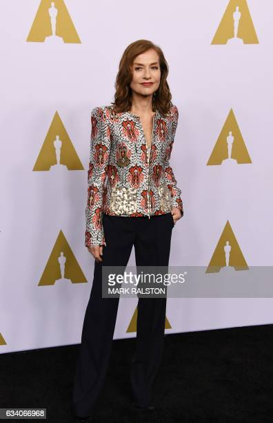 Actress Isabelle Huppert arrives for the 89th Annual Academy Awards Nominee Luncheon at The Beverly Hilton Hotel in Beverly Hills California on...