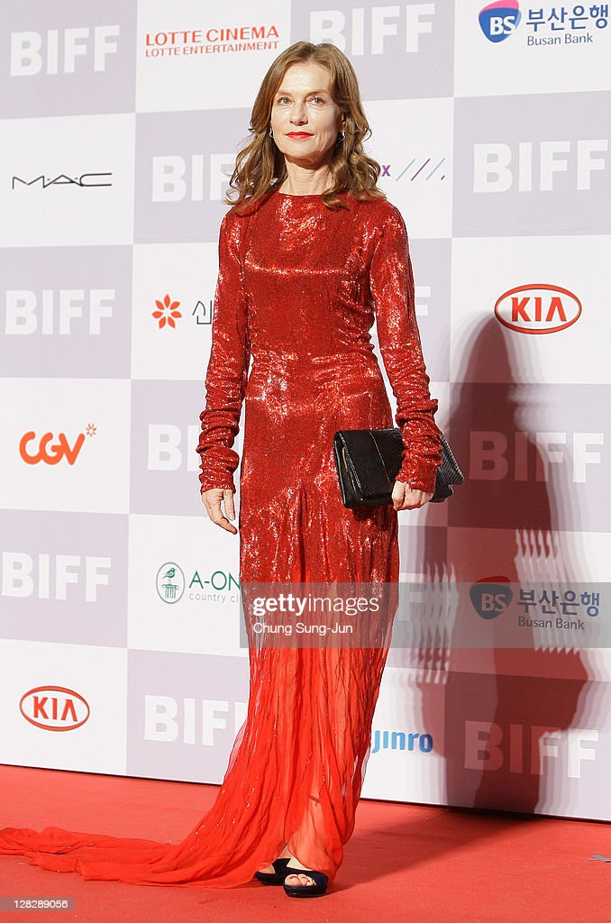 Actress Isabelle Huppert arrives for the opening ceremony of the 16th Busan International Film Festival (BIFF) at the Busan Cinema Center on October 6, 2011 in Busan, South Korea. The biggest film festival in Asia showcases 307 films from 70 countries and runs from October 6-14.