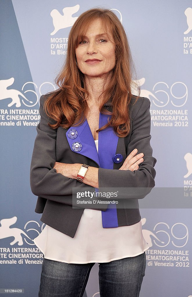 Actress Isabelle Huppert attends 'Bella Addormentata' Photocall at the 69th Venice Film Festivalon September 5, 2012 in Venice, Italy.