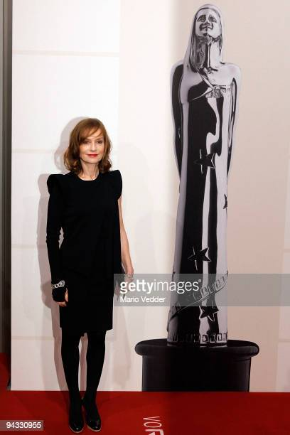 Actress Isabelle Huppert attends the 22nd European Film Awards at the Jahrhunderthalle on December 12 2009 in Bochum Germany