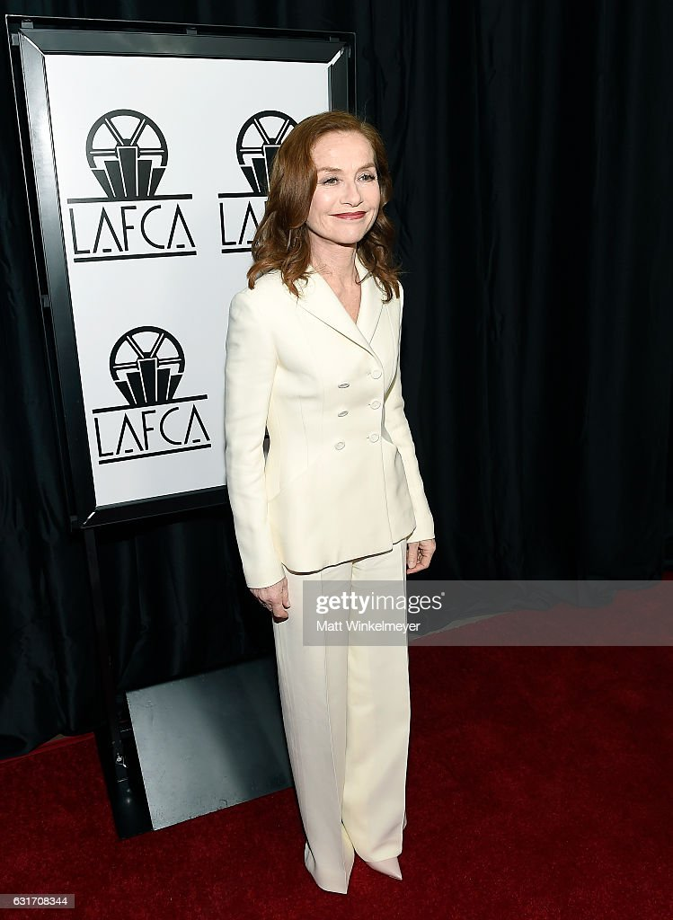 Actress Isabelle Huppert attends the 42nd annual Los Angeles Film Critics Association Awards at InterContinental Los Angeles Century City on January 14, 2017 in Los Angeles, California.