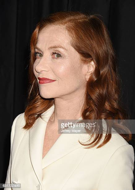 Actress Isabelle Huppert attends the 42nd annual Los Angeles Film Critics Association Awards at InterContinental Los Angeles Century City on January...