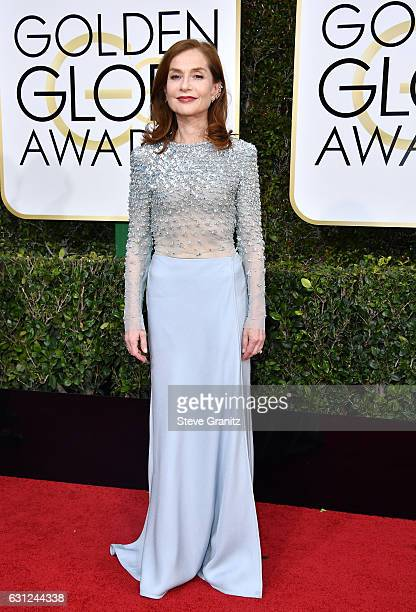 Actress Isabelle Huppert attends the 74th Annual Golden Globe Awards at The Beverly Hilton Hotel on January 8 2017 in Beverly Hills California