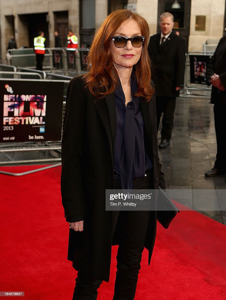 Actress Isabelle Huppert attends the 'Abuse Of Weakness' screening during the 57th BFI London Film Festival at the Odeon West End on October 14, 2013 in London, England.