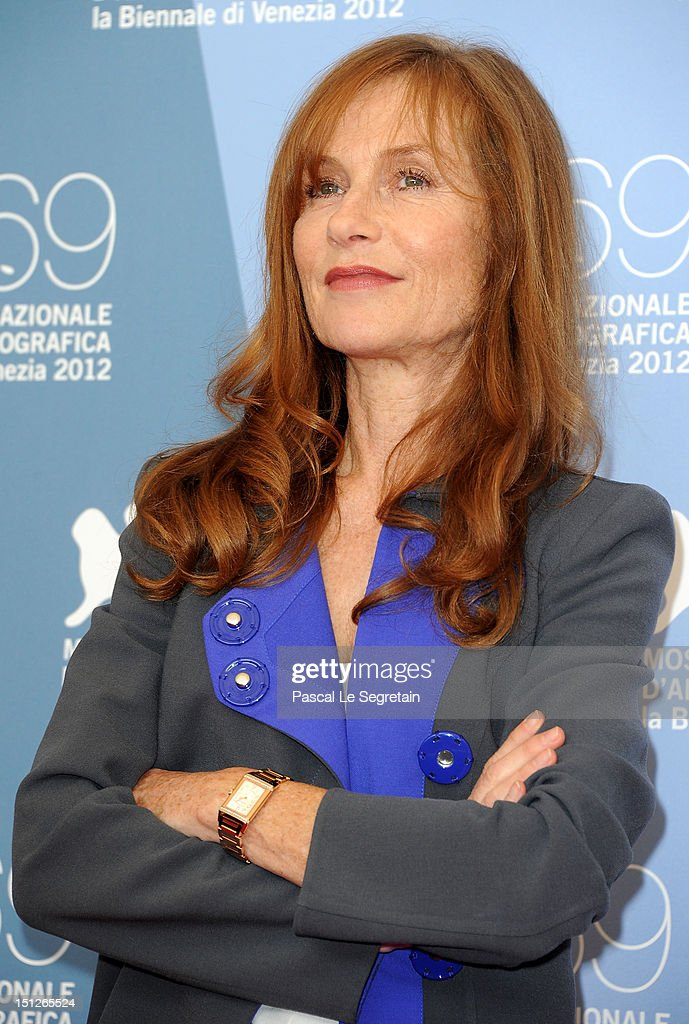 Actress Isabelle Huppert attends the 'Bella Addormentata' Photocall during the 69th Venice Film Festival at the Palazzo del Casino on September 5, 2012 in Venice, Italy.