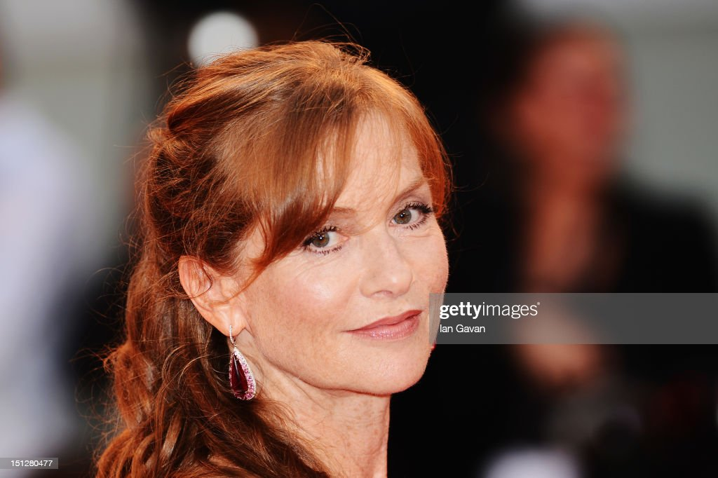 Actress Isabelle Huppert attends the 'Bella Addormentata' Premiere during The 69th Venice Film Festival at the Palazzo del Cinema on September 5, 2012 in Venice, Italy.