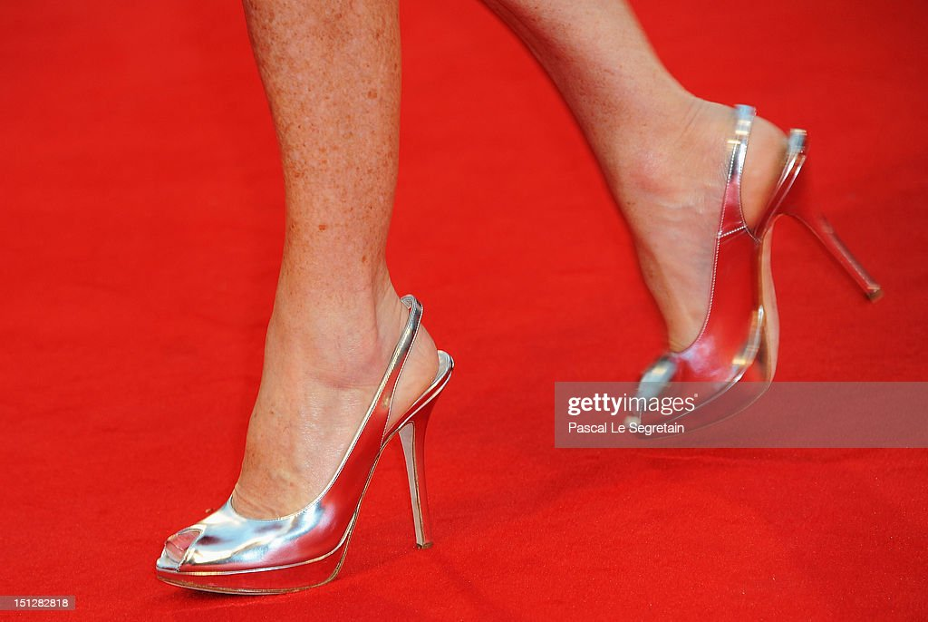 Actress Isabelle Huppert (shoe detail) attends the 'Bella Addormentata' Premiere during The 69th Venice Film Festival at the Palazzo del Cinema on September 5, 2012 in Venice, Italy.
