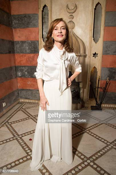 Actress Isabelle Huppert attends the Dior Dinner on December 4 2016 in Marrakech Morocco