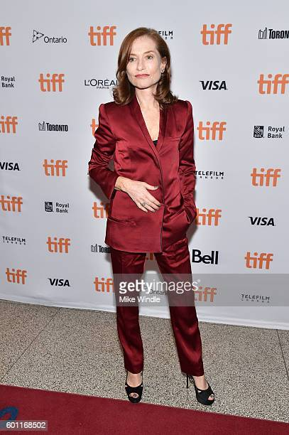 Actress Isabelle Huppert attends the 'Elle' premiere during the 2016 Toronto International Film Festival at The Elgin on September 9 2016 in Toronto...