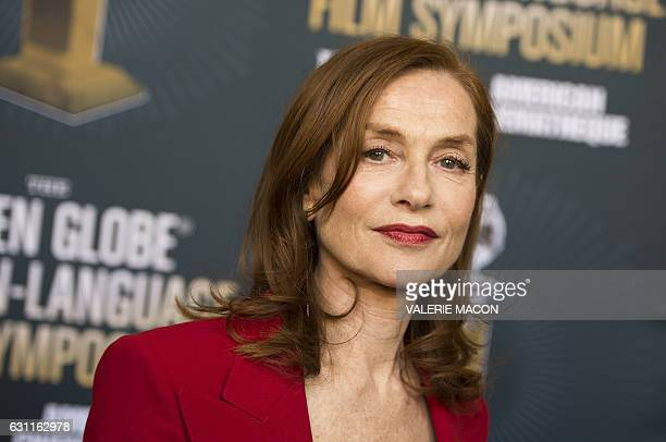 Actress Isabelle Huppert attends the Golden Globe Foreign Language Film Symposium Presented by The Hollywood Foreign Press Association The American...
