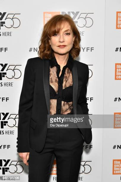 Actress Isabelle Huppert attends the premiere of 'Mrs Hyde' during the 55th New York Film Festival at Alice Tully Hall Lincoln Center on September 29...