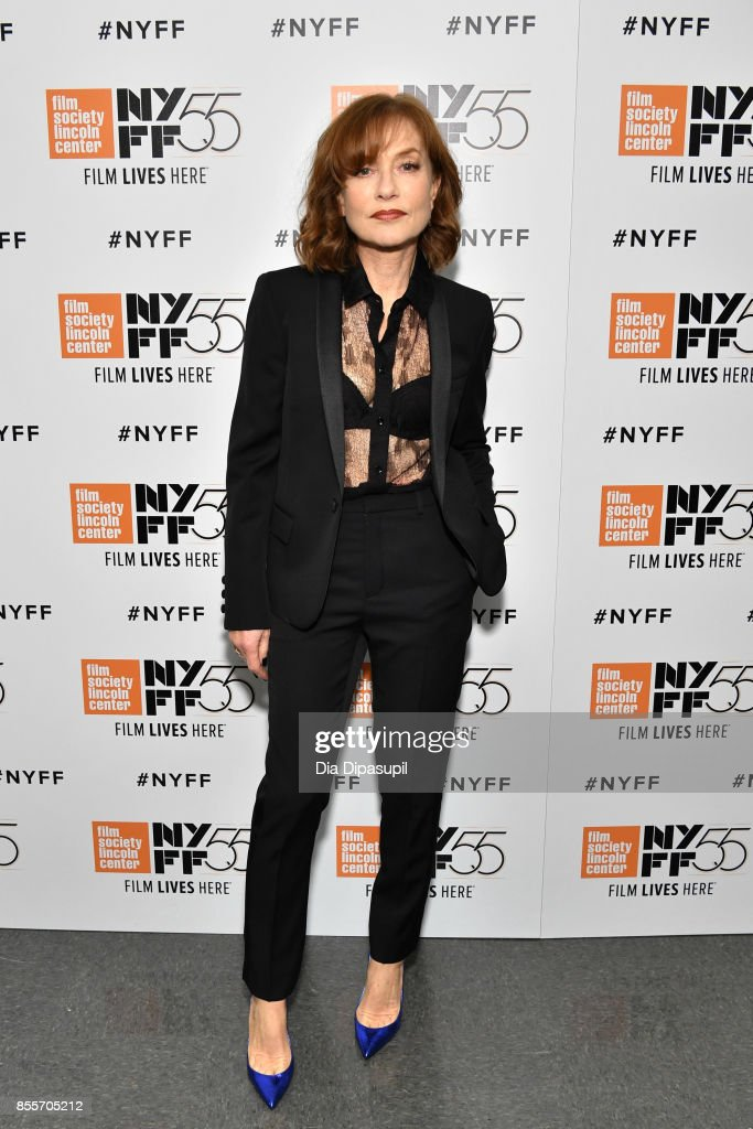 Actress Isabelle Huppert attends the premiere of 'Mrs. Hyde' during the 55th New York Film Festival at Alice Tully Hall, Lincoln Center on September 29, 2017 in New York City.