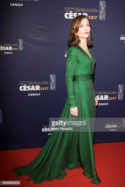 Actress Isabelle Huppert attends the the Cesar Film Awards 2017 ceremony at Salle Pleyel on February 24 2017 in Paris France