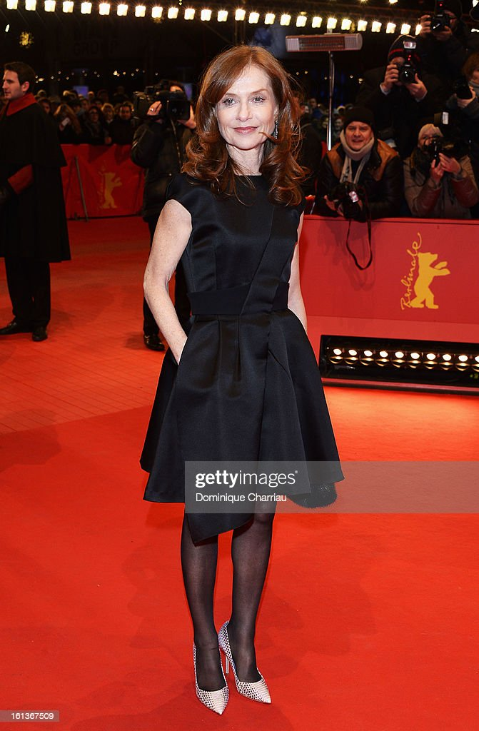 Actress Isabelle Huppert attends the 'The Nun' Premiere during the 63rd Berlinale International Film Festival at Berlinale Palast on February 10 2013...