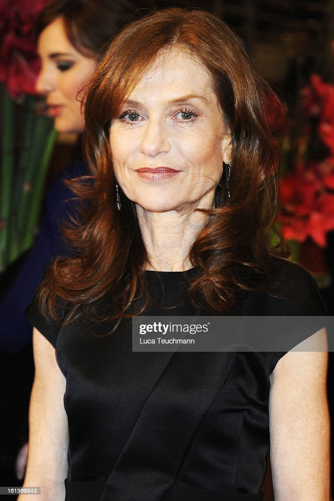 Actress <a gi-track='captionPersonalityLinkClicked' href=/galleries/search?phrase=Isabelle+Huppert&family=editorial&specificpeople=662796 ng-click='$event.stopPropagation()'>Isabelle Huppert</a> attends the 'The Nun' Premiere during the 63rd Berlinale International Film Festival at Berlinale Palast on February 10, 2013 in Berlin, Germany.