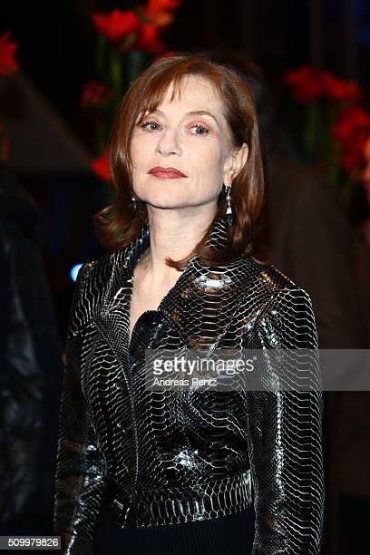 Actress Isabelle Huppert attends the 'Things to Come' premiere during the 66th Berlinale International Film Festival Berlin at Berlinale Palace on...