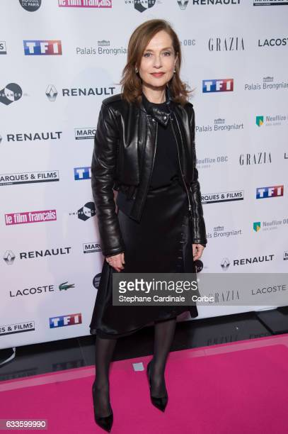 Actress Isabelle Huppert attends the 'Trophees Du Film Francais' 24th Ceremony at Palais Brongniart on February 2 2017 in Paris France
