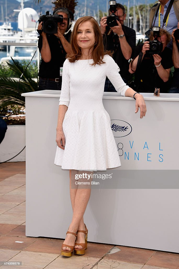 Actress Isabelle Huppert attends the 'Valley Of Love' Photocall during the 68th annual Cannes Film Festival on May 22 2015 in Cannes France
