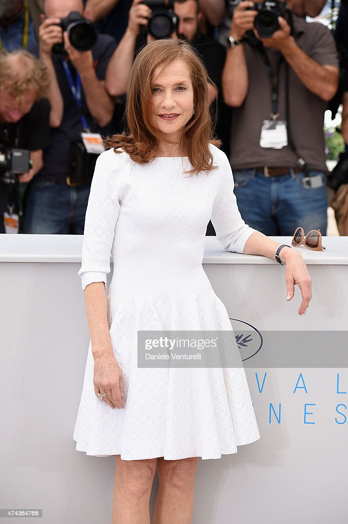 Actress <a gi-track='captionPersonalityLinkClicked' href=/galleries/search?phrase=Isabelle+Huppert&family=editorial&specificpeople=662796 ng-click='$event.stopPropagation()'>Isabelle Huppert</a> attends the 'Valley Of Love' Photocall during the 68th annual Cannes Film Festival on May 22, 2015 in Cannes, France.