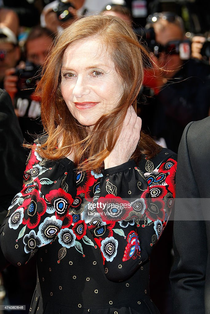 Actress <a gi-track='captionPersonalityLinkClicked' href=/galleries/search?phrase=Isabelle+Huppert&family=editorial&specificpeople=662796 ng-click='$event.stopPropagation()'>Isabelle Huppert</a> attends the 'Valley Of Love' premiere during the 68th annual Cannes Film Festival on May 22, 2015 in Cannes, France.