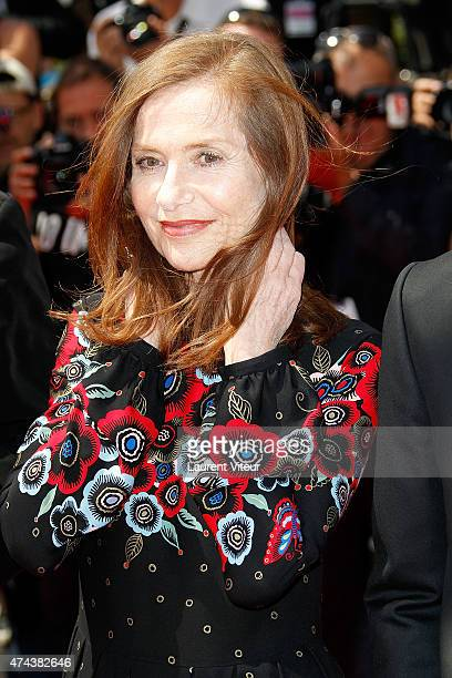Actress Isabelle Huppert attends the 'Valley Of Love' premiere during the 68th annual Cannes Film Festival on May 22 2015 in Cannes France