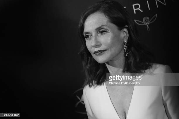 Actress Isabelle Huppert attends Women In Motion Kering And Cannes Film Festival Official Dinner Photocall during the 70th Cannes Film Festival on...