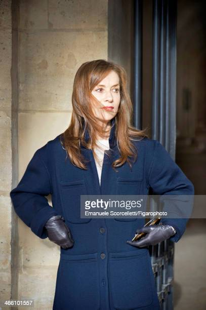 108635006 Actress Isabelle Huppert is photographed for Madame Figaro on December 18 2013 in Paris France PUBLISHED IMAGE CREDIT MUST READ Emanuele...