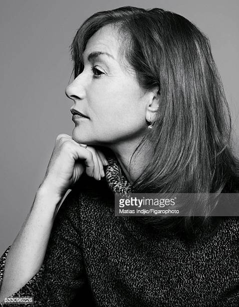 Actress Isabelle Huppert is photographed for Madame Figaro on January 17 2016 in Paris France Sweater earring personal PUBLISHED IMAGE CREDIT MUST...