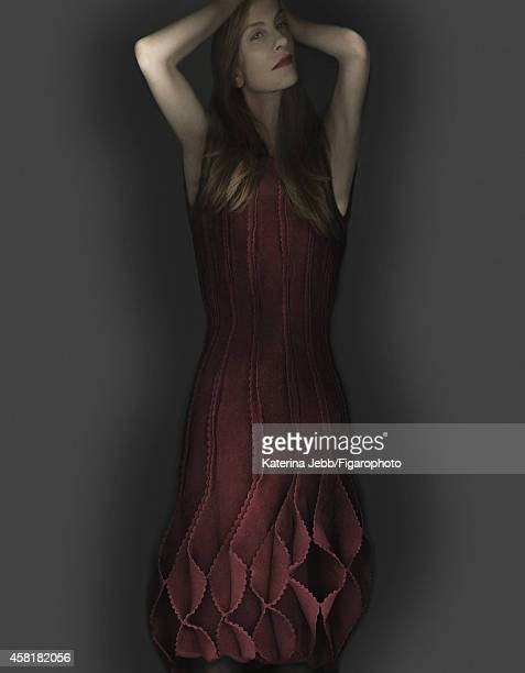 Actress Isabelle Huppert is photographed for Madame Figaro on June 16 2014 in Paris France Dress PUBLISHED IMAGE CREDIT MUST READ Katerina...