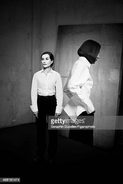 Actress Isabelle Huppert is photographed for Madame Figaro on June 25 2014 in Paris France Pants and shirts PUBLISHED IMAGE CREDIT MUST READ Seraphin...