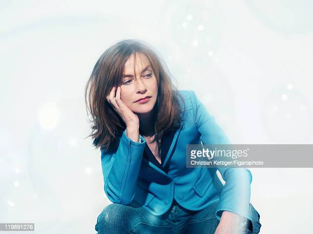Actress Isabelle Huppert is photographed for Madame Figaro on March 8 2011 in Paris France Published image Figaro ID100078003 Jacket by Nicolas...