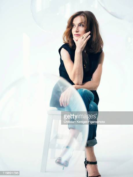Actress Isabelle Huppert is photographed for Madame Figaro on March 8 2011 in Paris France Published image Figaro ID100078006 Jacket by Lefranc...