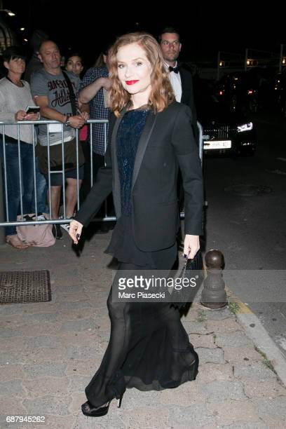 Actress Isabelle Huppert is spotted during the 70th annual Cannes Film Festival at the 'Vanity Fair CHANEL' dinner at Tetou restaurant on May 24 2017...