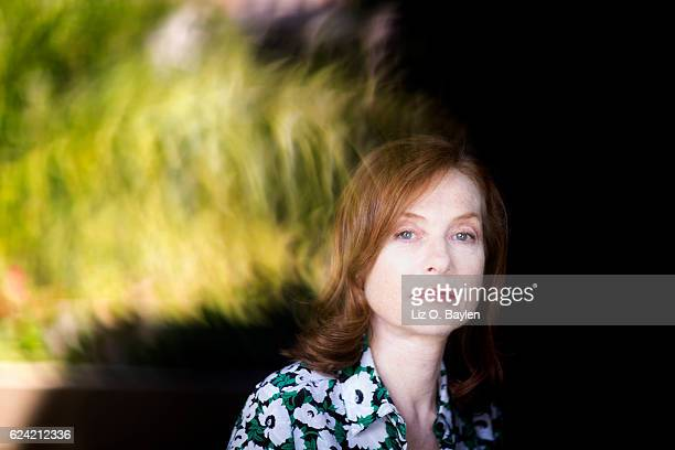 Actress Isabelle Huppert of the film 'Elle' is photographed for Los Angeles Times on September 6 2016 in Los Angeles California PUBLISHED IMAGE...