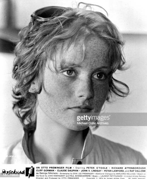 Actress Isabelle Huppert on set of the United Artist movie 'Rosebud' in 1975