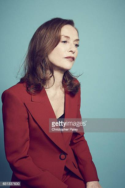 Actress Isabelle Huppert poses for a portraits 2017 Film Independent filmmaker grant and Spirit Award nominees brunch at BOA Steakhouse on January 7...