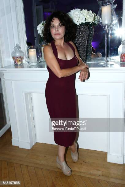 Actress Isabelle Mergault attends the Dinner after Sylvie Vartan performed at L'Olympia on September 16 2017 in Paris France