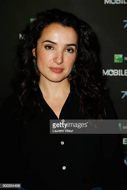Actress Isabelle Vitari attends '1 mobile 1 minute 1 film' as part of Mobile Film Festival at Gaumont Champs Elysees on December 7 2015 in Paris...
