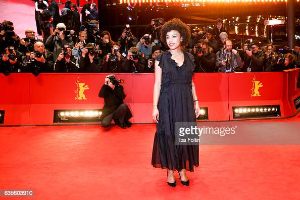 Actress Isi Laborde attend the 'Return to Montauk' premiere during the 67th Berlinale International Film Festival Berlin at Berlinale Palace on...