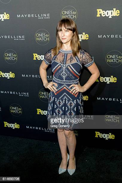 Actress Isidora Goreshter arrives at the People's 'Ones To Watch' party at EP LP on October 13 2016 in West Hollywood California