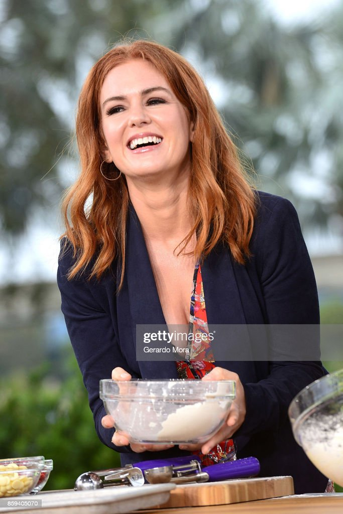 Actress Isla Fischer attends a taping of 'The Chew' during the 22nd Epcot International Food & Wine Festival at Epcot Center at Walt Disney World on October 4, 2017 in Orlando, Florida.