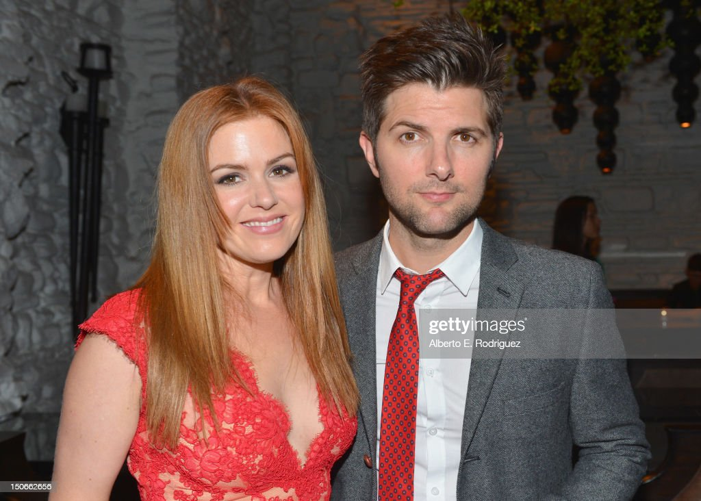 Actress <a gi-track='captionPersonalityLinkClicked' href=/galleries/search?phrase=Isla+Fisher&family=editorial&specificpeople=220257 ng-click='$event.stopPropagation()'>Isla Fisher</a> and actor Adam Scott attend the after party for the premiere of RADiUS-TWC's 'Bachelorette' at The ArcLight Cinemas on August 23, 2012 in Hollywood, California.