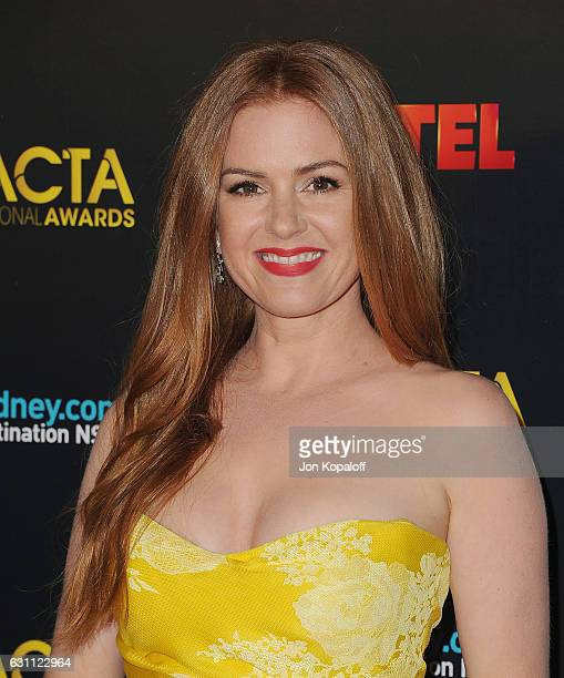 Actress Isla Fisher arrives at the 6th AACTA International Awards at Avalon Hollywood on January 6 2017 in Los Angeles California