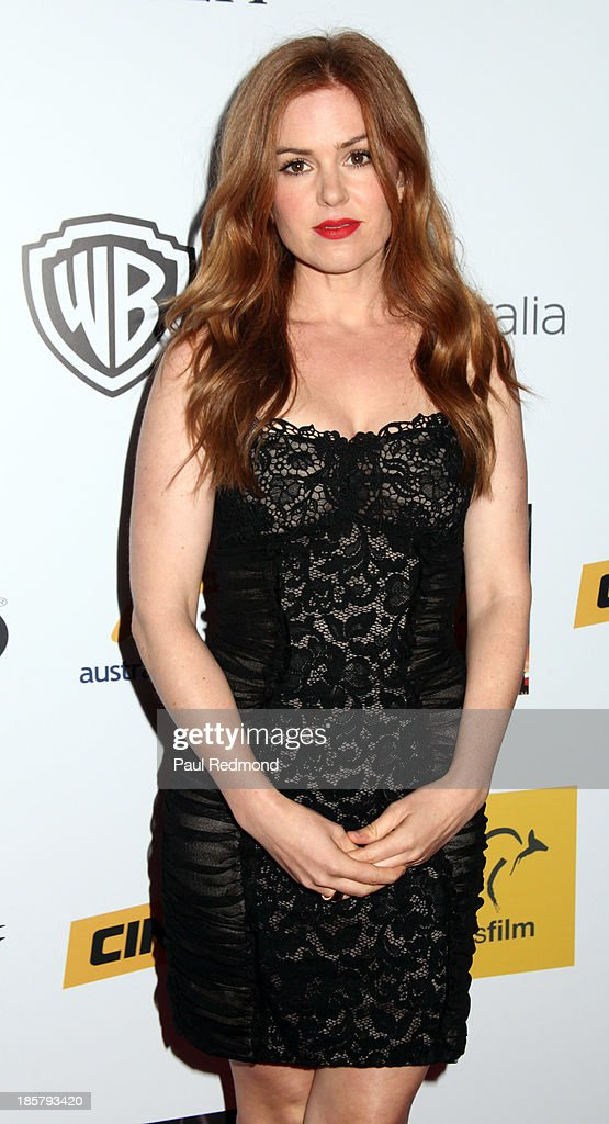 Actress <a gi-track='captionPersonalityLinkClicked' href=/galleries/search?phrase=Isla+Fisher&family=editorial&specificpeople=220257 ng-click='$event.stopPropagation()'>Isla Fisher</a> arrives at the Australians In Film Benefit Dinner at the InterContinental Hotel on October 24, 2013 in Century City, California.