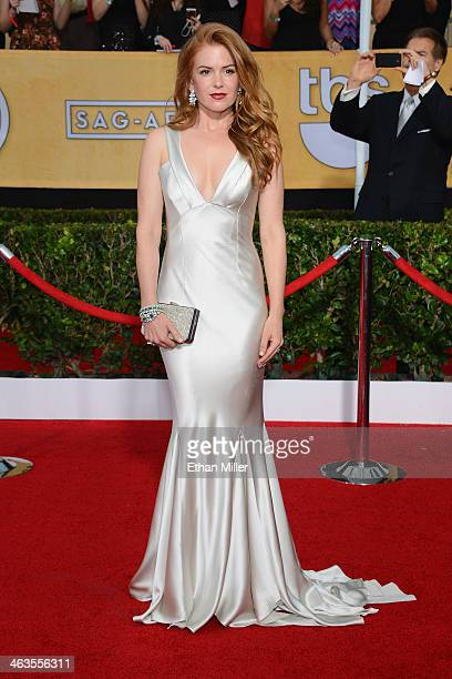 Actress Isla Fisher attends the 20th Annual Screen Actors Guild Awards at The Shrine Auditorium on January 18 2014 in Los Angeles California