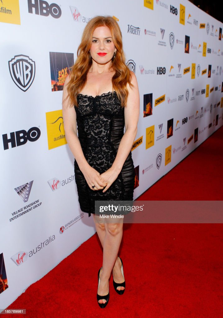 Actress <a gi-track='captionPersonalityLinkClicked' href=/galleries/search?phrase=Isla+Fisher&family=editorial&specificpeople=220257 ng-click='$event.stopPropagation()'>Isla Fisher</a> attends the 2nd Annual Australians in Film Awards Gala at Intercontinental Hotel on October 24, 2013 in Beverly Hills, California.