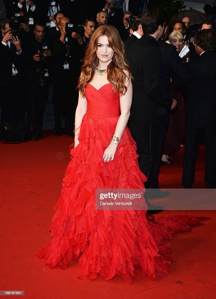 Actress Isla Fisher attends the Opening Ceremony and premiere of 'The Great Gatsby' during the 66th Annual Cannes Film Festival at Palais des Festivals on May 15, 2013 in Cannes, France.