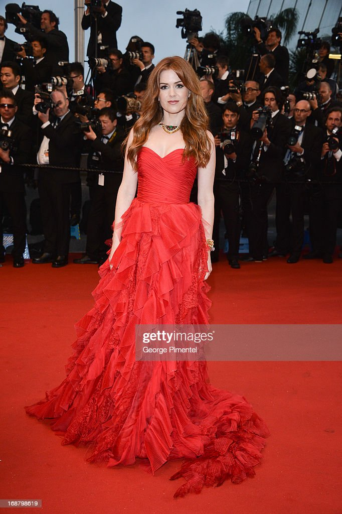 Actress Isla Fisher attends the Opening Ceremony and Premiere of 'The Great Gatsby' at The 66th Annual Cannes Film Festival at Palais des Festivals on May 15, 2013 in Cannes, France.